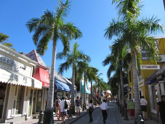 Palm Tree Shopping Street