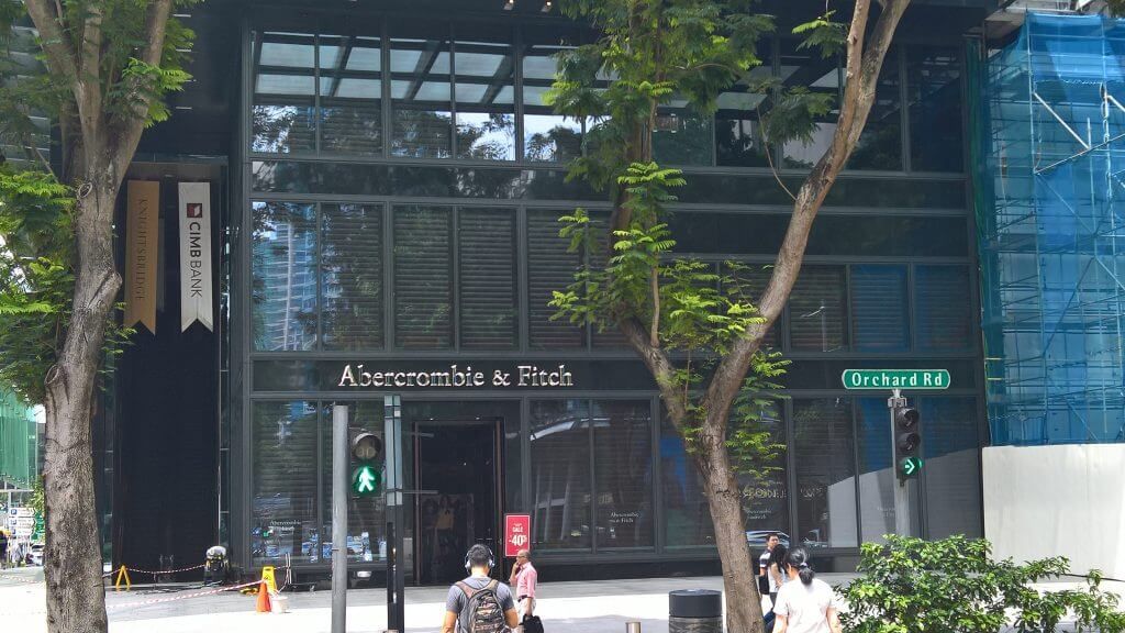 Retail performance Abercrombie Singapore