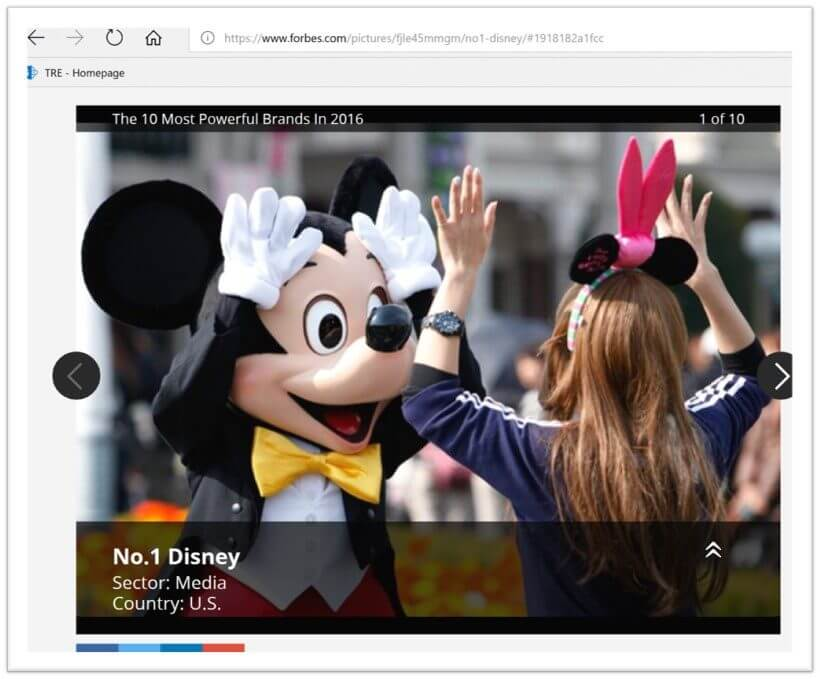 Disney tops global brand ranking retail survival