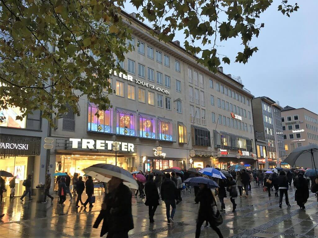 Footfall at Neuhauser Strasse retail survival