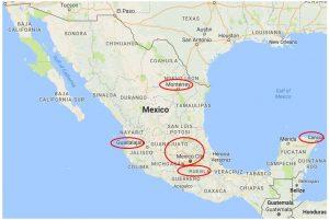 Brand Distribution Mexico Map (Map data ©2017 Google, INEGI