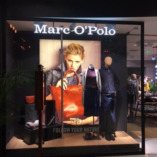 Marc O'Polo window Shanghai (Photo: Heike Blank)