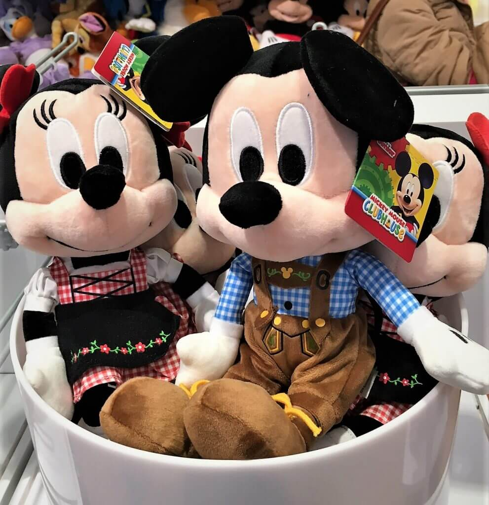 Retail survival. Micky and Minnie - the Bavarian