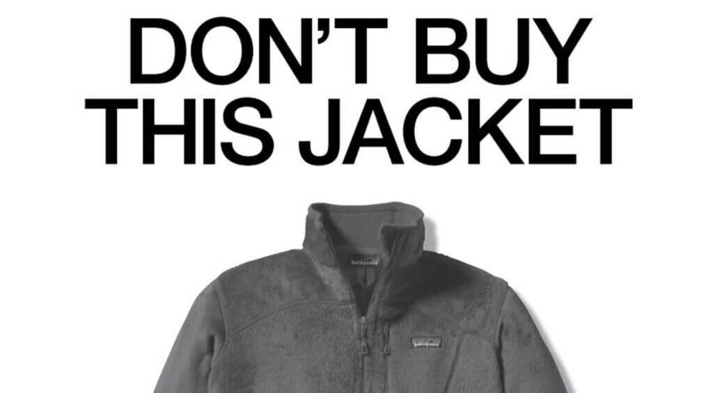Patagonia Jacket Ad in New York Times 2011 - Do not buy this jacket