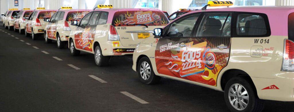 Customer Service with Pink Taxis in Dubai (Photo: thatdubaisite.ae)