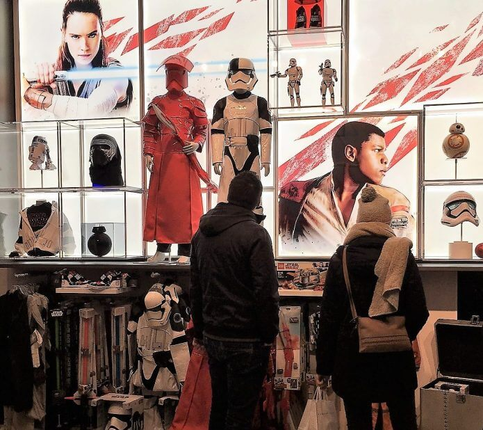Star wars corner at Disney store in Munich (Photo: Heike Blank)