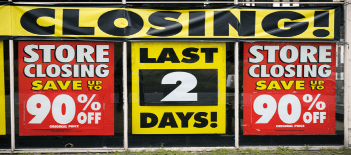 brick & mortar stores closing