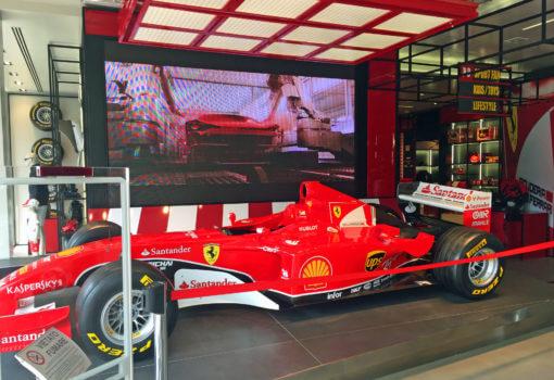 The Ferrari Store in Maranello