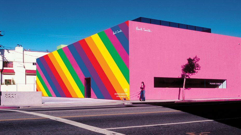 Image result for paul smith la pink store