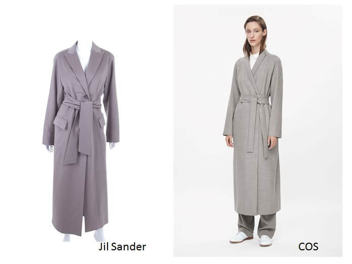Jil Sander vs. COS (Photos: © rebelle.com/© cosstores.com