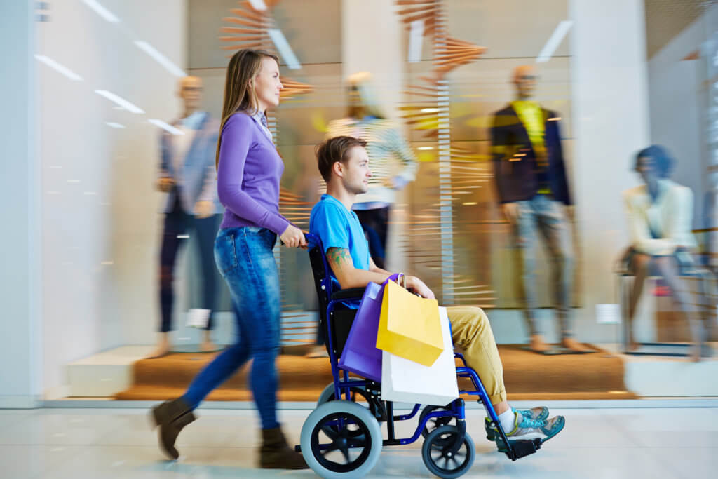 Wheelchair accessible shopping